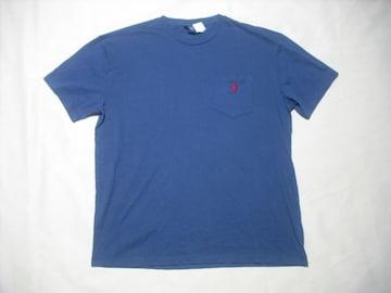 06 男 POLO RALPH LAUREN ラルフローレン 紺 半袖Tシャツ M