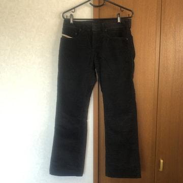 即決 正規品 DIESEL ディーゼル 黒パンツ ブラック