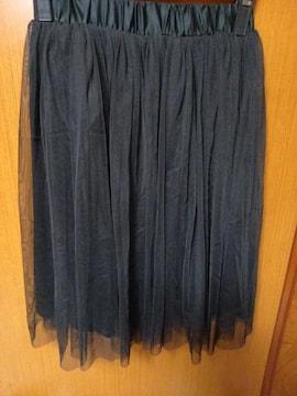 �A 黒のシフォンスカート