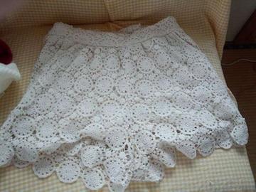 しまむら 編み模様 半パンL
