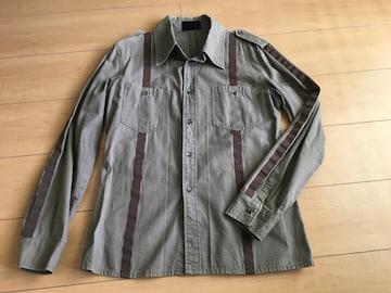 ショップオリジナル ミリタリーシャツ カーキ