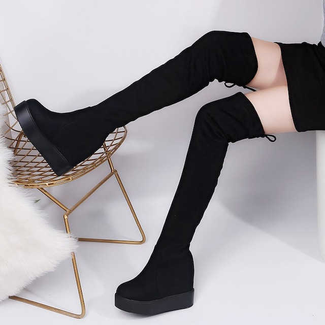 TK220即決 新品 厚底 ブーツ 黒 22.5 エスペランサ ダイアナ ピンキー 好きに < 女性ファッションの