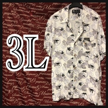 3L・和柄獅子・総柄アロハ 新品/MC01P406-004