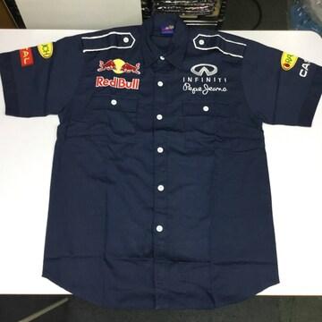 ワークシャツ Lサイズ レッドブル Red Bull ピットシャツ