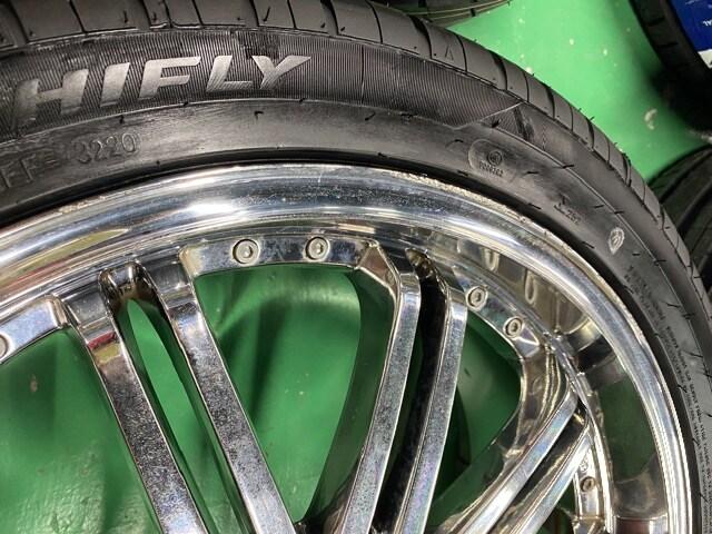 7071569)WRESTメッキ深リムスポ-クホイ-ル新品タイヤセット245/40R19送料無料 < 自動車/バイク