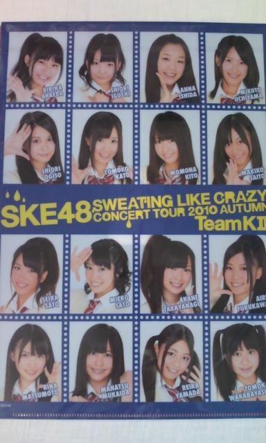 SKE48「汗の量はハンパじゃない!!」クリアファイル < タレントグッズの
