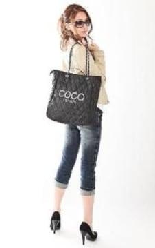 《New》パロディCOCOカメリアロゴ刺繍★キルティング*チェーンショルダーバッグ