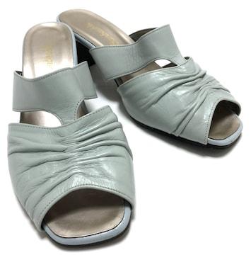 美品ボヌーブルミュールサンダル靴レディースライトブ