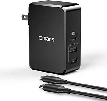 Omars USB C PD充電器45W 最新版「PSE認証済」3ポートPD対応