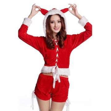 コスプレ服 猫耳 サンタクロース衣装 クリスマス k206