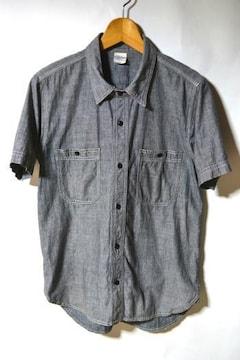 キャブクロージング シャンブレーシャツ 半袖 ブラック M メンズ