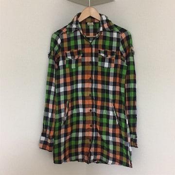 #チェックシャツM