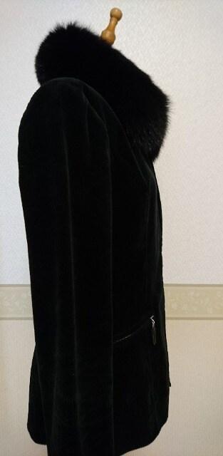Pinky&Dianne ファー付きコーデュロイジャケット黒