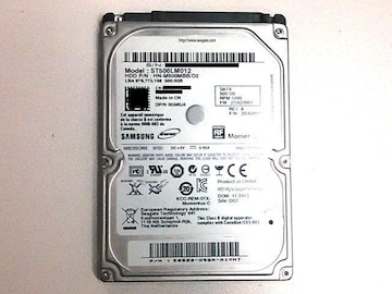 ★ハードディスク サムスン HN-M500MBB 500GB SATA