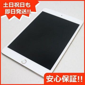 ●新品同様●SIMフリー iPad mini 4 Cellular 16GB ゴールド●