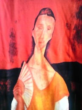 アメディオ・モディリアーニ『扇子を持つ女』