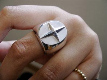 a phantom『楕円の印台シルバー十字星リング』ハンドメイド80