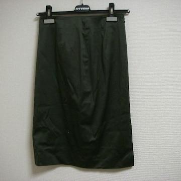 J&R カーキ 膝丈 薄手 スカート M
