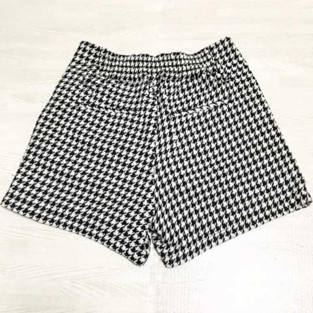 【used】千鳥格子ハイウエスト ショートパンツ/LOWRYS FARM/白黒 < 女性ファッションの