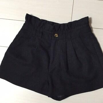 Bye Bye☆ウールショートパンツ☆ブラック☆黒
