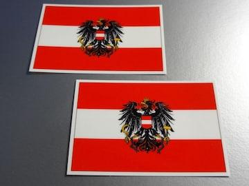 ■オーストリア国旗+国章ステッカー/ヘタリア