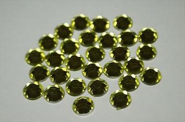 10mm デコ用ストーン アクリル 100粒 ライトイエロー