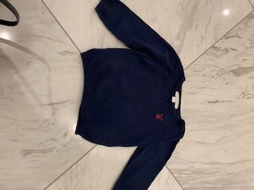 バーバリー綿セーター12Mネイビー(82センチ)
