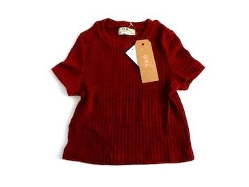新品 GRL グレイル ピチピチ 半袖 ニット セーター  ヘソ出し