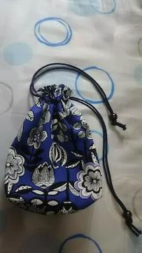 ハンドメイド 【巾着★青花柄】