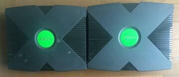 ジャンク 初代 旧 XBOX 本体 EVOX 改造 リカバリー付 オレンジ緑・赤点滅