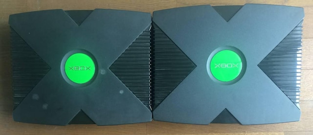 ジャンク 初代 旧 XBOX 本体 EVOX 改造 リカバリー付 オレンジ緑・赤点滅  < ゲーム本体/ソフトの