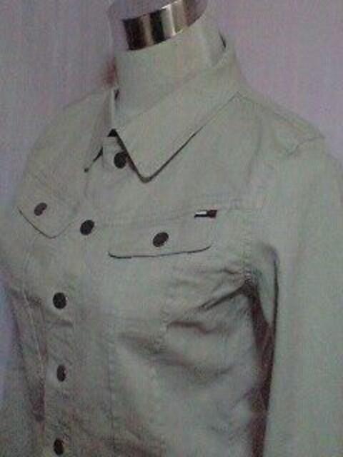 tommy jeansジャケット(S)ホワイト < ブランドの