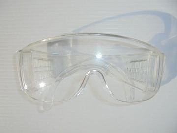 ゴーグルセーフティーグラス保護眼鏡一眼型眼鏡併用可能クリアー