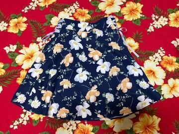 MAJESTIC LEGON☆両サイド綺麗な紫リボン☆花柄スカートパンツ