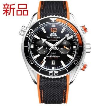 新品 機械式腕時計 自動巻き クロノグラフ ダイバーズ