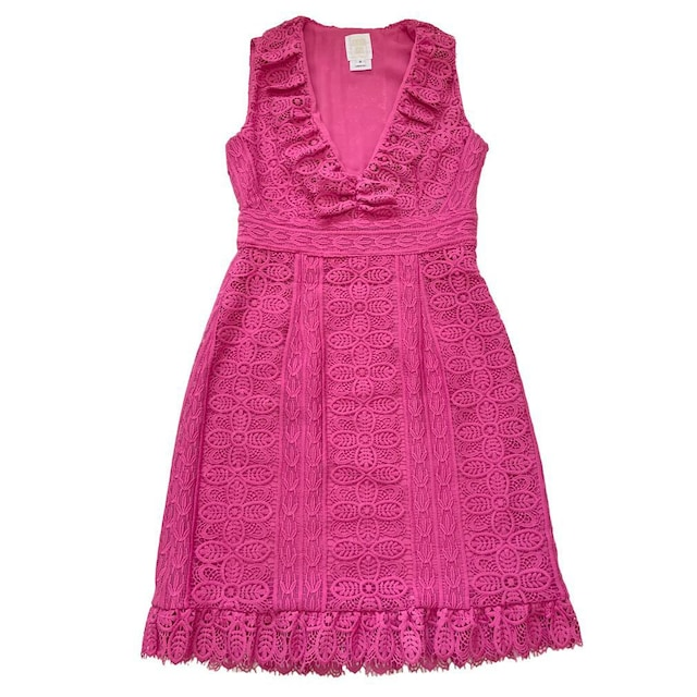 新品アナスイANNA SUIレース ノースリワンピース ピンク#0  < ブランドの