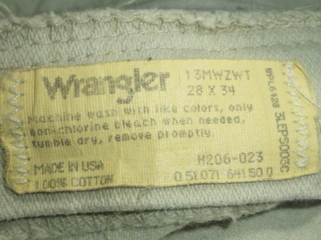 #USA製¶Wrangler[ラングラー]★#13MWZWT.ホワイトデニムパンツ72cm/送料込み < ブランドの