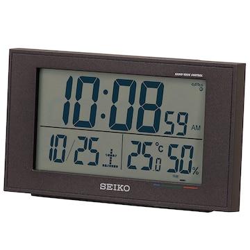 セイコー クロック 目覚まし時計 電波 デジタル カレンダー