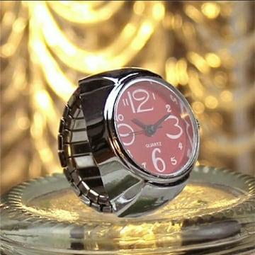 新品 未使用 指輪 時計 シンプル 9色対応 赤