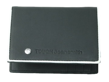 (WA-8850)TOUGH JEANS本革財布/黒/ブラック