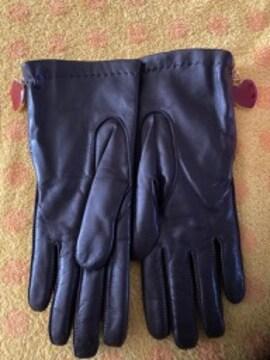 イタリア製モスキーノ羊皮革手袋ニットインナー21