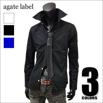 国産 ナロータイ付きボタンダウンシャツ ブラック M