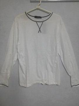 Aー382★新品★<Sale>無地長袖キレイ目シャツ ホワイトM