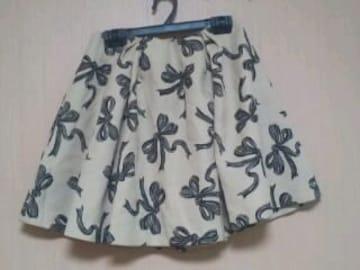 ダズリン★ジャガード織のようなリボン柄スカート