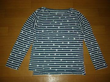 uniform experiment  ドット柄ロンTシャツ1紺白ボーダーSOPHNET.