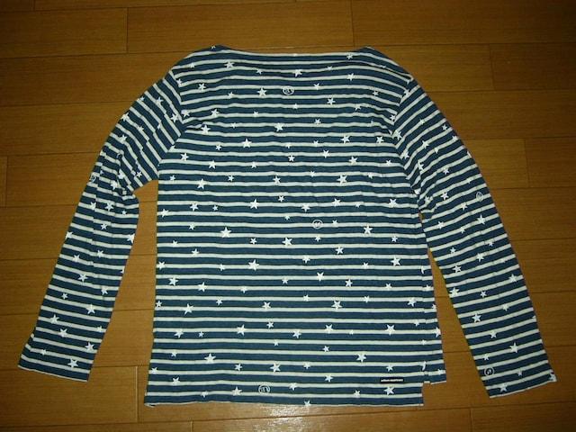 uniform experiment  ドット柄ロンTシャツ1紺白ボーダーSOPHNET. < ブランドの