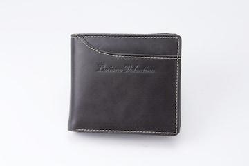 ルチアーノ バレンチノ二つ折り財布ブラック