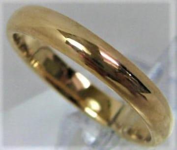 K18 18金 リング 甲丸 サイズ#13〜#13.5 結婚指輪 b