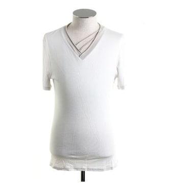 atoアトウ 切り替えVネックTシャツ