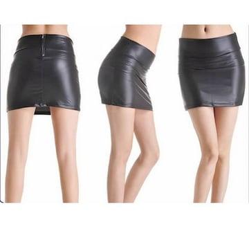 美脚★フェイクレザー★ストレッチ★タイトスカート(XL寸)